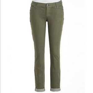 Vince Camuto Olive Stretch Skinny Jeans 27